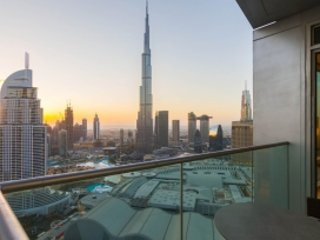 STUNNING! 1 bed Serviced hotel apart w/ Burj View in Fountain Views