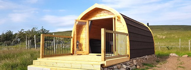 Luxury pod with private decking area