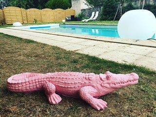 Villa glamour chic avec piscine privée en région parisienne