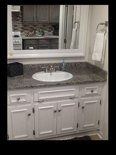 Separate bathroom sink area