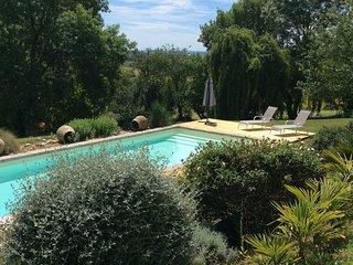 Charmante maisonnette, avec vue sur campagne, piscine et Pyrenees
