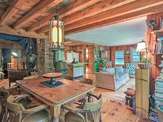 'The Mill River Cabin' w/ Fireplace & River View!