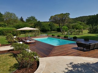 Luxury villa with a large eco garden and a pool near Aix en Provence.