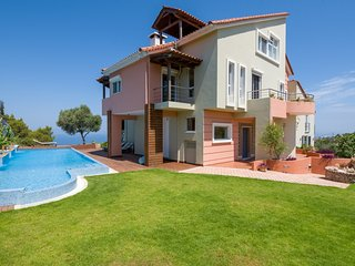 Heated Pool with Waterfalls-Spa★Jacuzzi★Gym & BBQ★5bedrooms★Sea view