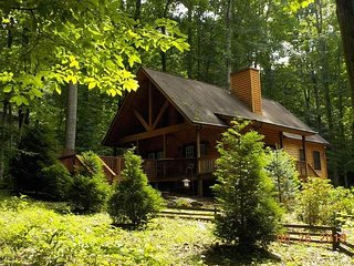 2 Bedroom 2 Bath Cabin w/Loft, Hot Tub, Easy Paved Access, Nearby Stream WIFI