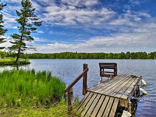 NEW! Burns Lake Cabin w/Dock, Pontoon Boat & More!