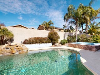 Dog-friendly home close to spring training w/ a private pool & hot tub