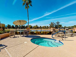 Beautiful waterfront home w/ private patios, shared pools, hot tub