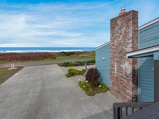 Dog-friendly, oceanfront studio w/ decks & kitchenette - steps to the beach!
