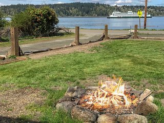 NEW LISTING! Dog-friendly water view home w/ beach access, firepit & deck