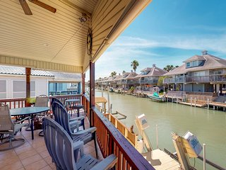 Dog-friendly, waterfront home w/ boat lift, access to shared pool, & hot tub