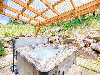 Dog-friendly house w/ocean views, private hot tub, game room, & deck