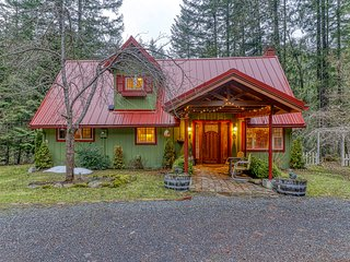 Waterfront, dog-friendly home w/ a covered deck, gazebo, & river access