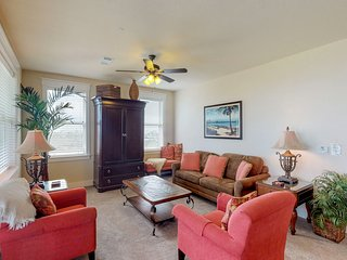 NEW LISTING! Ocean and bay view condo w/ shared pools/hot tubs - walk to beach!