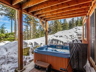 Schweitzer Mountain getaway w/ a private hot tub & easy ski slope access