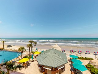 Inviting ocean front condo w/ocean views, shared pool & hot tub and more!