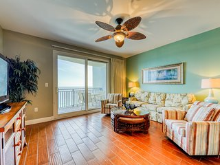 Gulf-front condo w/ direct beach access, pool, hot tub & fitness center!