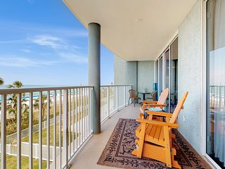 Beachfront rental in gated resort with pools and fitness center