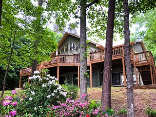 Waterfront house w/ a private dock, fireplace, & full kitchen - dogs OK!