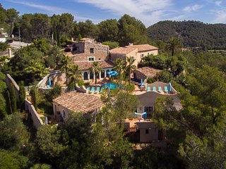the whole property at Masia Nur Sitges