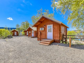 Basic, dog-friendly cabin w/ stunning lake views plus shared dock & restrooms