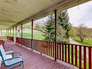 Mountain farm retreat w/ firepit & expansive deck - close to lake attractions!