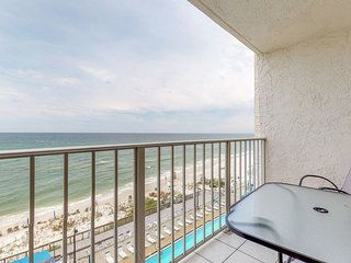 Beachfront condo in a gated resort w/ shared pools, hot tub & fitness room!