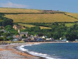 View from Rosemarkie beach towards The Den.
