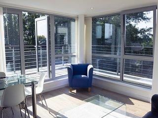 Bright and cheerful serviced apartment near Gunwharf Quays