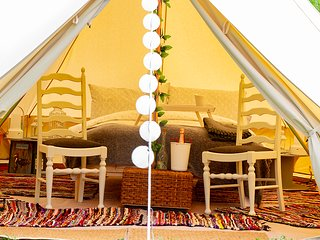 Luxury 5 m Bell Tent Glamping Close to Delamere & Chester Adults Only Site
