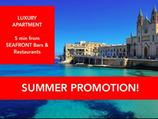 St Julians, 5 min from SEAFRONT, bars & restaurants, 'Penthouse Luxe n°10'