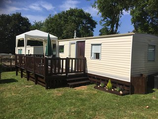 2 bedroomed mobile home for rent at Camping du Quinquis, Southern Brittany