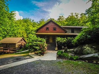 Laughing Waters Retreat with two properties included. Lodge and Cottage