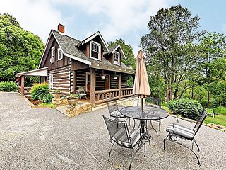 Beautifully Updated Cabin on 4 Acres – Lush Setting w/ Pond, Stream & Firepit