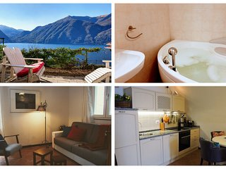 Beautiful renovated apartment with private garden and terrific view on Lake Como