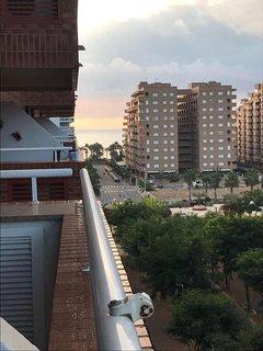 Vistas al mar desde la planta 5 del edificio Playa Coral I