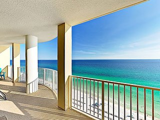 Beachfront Bliss w/ Boundless Views, Big Balcony & Pool – Steps to Beach!
