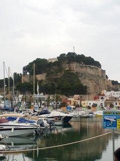 Vista Castillo de Denia desde el puerto