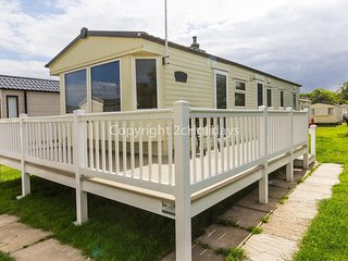 8 berth caravan for hire at Broadland Sands with decking Suffolk ref 20213