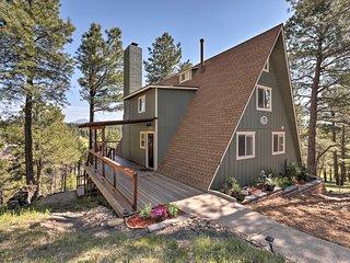 NEW! Spacious Flagstaff A-Frame Cabin w/Deck+Views
