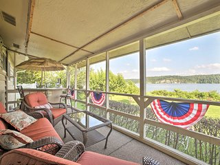 Waterfront Rogers Abode w/ Private Deck & Hot Tub!