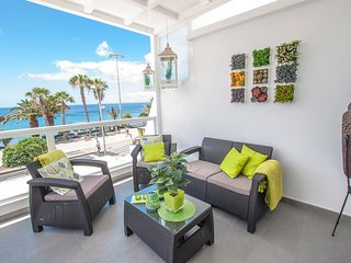 2 bedroom apartment on the front line with amazing sea views ,terrace& WIFI