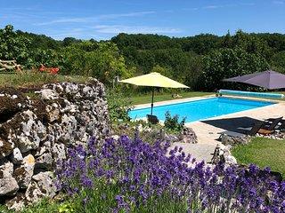 Rust, ruimte, prachtige natuur rond 4 persoons vakantiehuis met privé zwembad