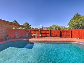 NEW! Sedona Home on 1 Acre w/ Pool+Red Rock Views!
