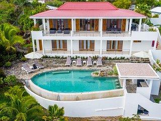 VICTORIA...3 BR affordable St Martin rental villa, panoramic views