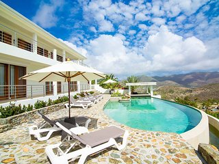 VICTORIA...3 BR affordable St Martin rental villa, panoramic views