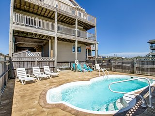 Blue Sky | 391 ft from the beach | Private Pool, Hot Tub | Nags Head