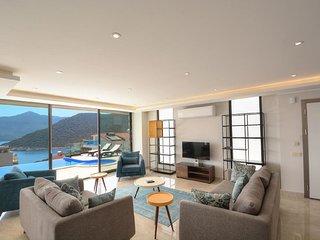 Contemporary villa in Kalamar, Kalkan.  Close to the sea with stunning views.
