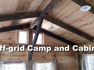 Rare Off-grid Timber Frame Cabin and Camp