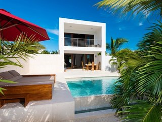 Villa Sugar Kube | Beach Front - Located in Tropical Grace Bay with Private Che